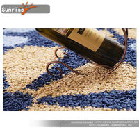 silk shaggy carpet with different design and color