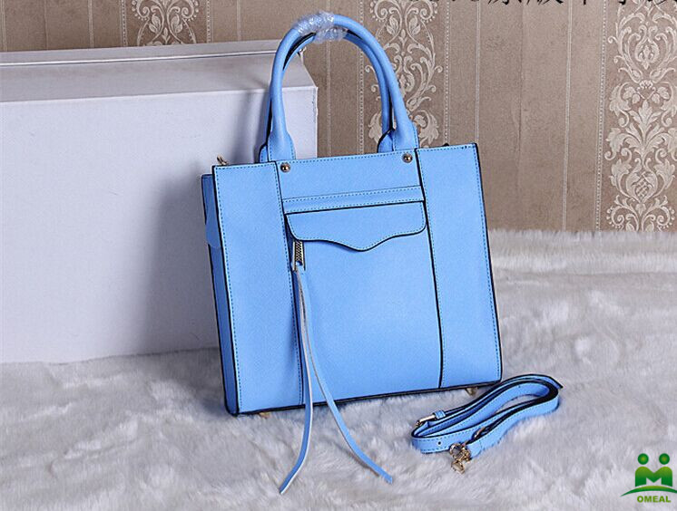 high quality light blue saffiano leather designer handbags women small totes C2-214 dropship fast delivery