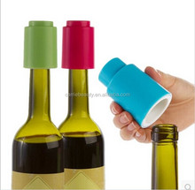 Reusable Press Lever Pump Freshen Sealed Saver Novelty Plastic Vacuum Wine Bottle Stopper
