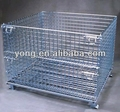 Heavy duty industrial stackable storage wire mesh pallet containers