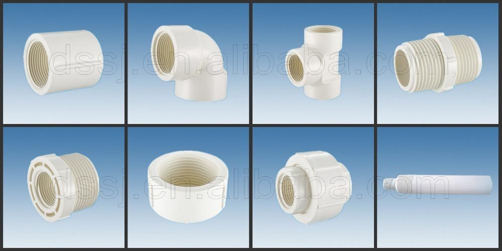 Types of plumbing materials plastic pvc pipe fittings