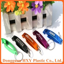 HXY hot sale cheap beer bottle opener keychain wholesale, bottle opener with ring