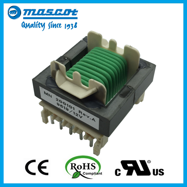 EF type high frequency electric switching power transformer