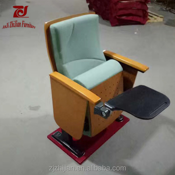Chinese Style New Design Auditorium Chair With Writing Pad ZJ1613g