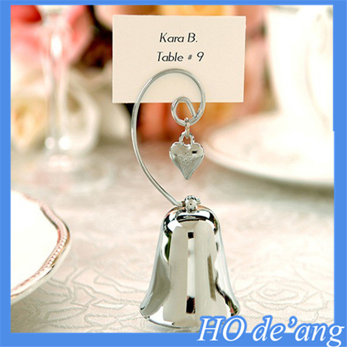 Best selling wedding seats folder wedding supplies bells shaped seat clip seat card wedding invitations clip MHo-135