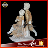 Life-Size Decoration Marble Boy And Girl Stone Sculpture