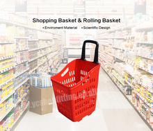 durable plastic shopping basket foldable handles and lid