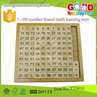 Best Sale Wooden Learning Math Toys Set Preschool Equipment 1-100 Number Board Math Learning Toys