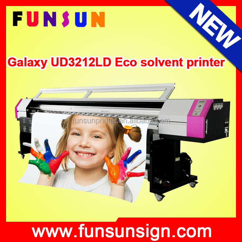 Discount ! Galaxy 8ft/10ft dx5 head 1440dpi vinyl eco solvent printer large format printer