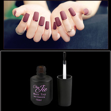 2017 Hot Selling Product DIY Matte Nail Polish Gel 15ml Non Cleansing Base Color Matt Top Coat
