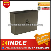 special steel oval garbage containers