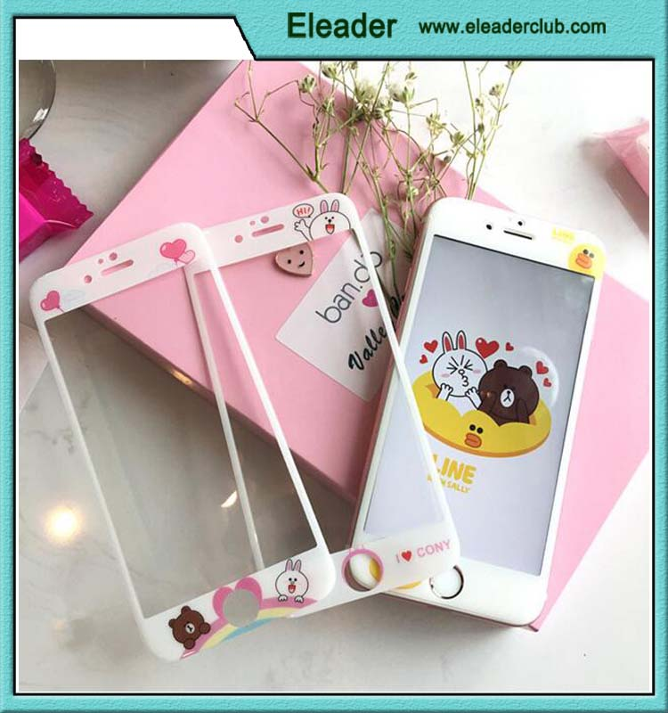 Colorful Cartoon Pattern Full Screen Tempered Glass Screen Protector for iphone 6/6s