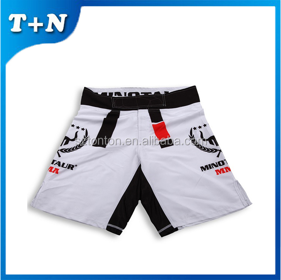 Hot new style quality 100% polyester wholesale blank custom mma shorts