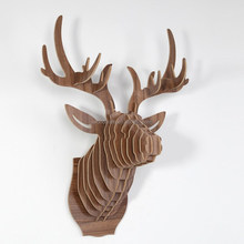 DIY Wooden Deer head home decor crafts gift, Festive gift