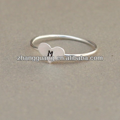 Custom Initial Ring , Letter finger ring