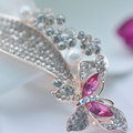 Butterfly Flower Hair Accessories New Crystal Shining Barrettes