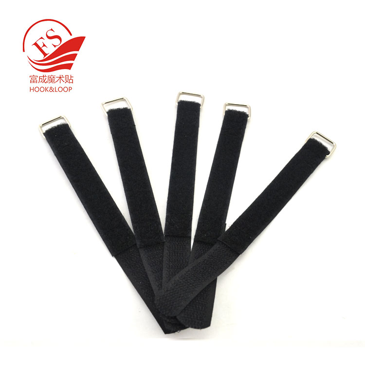 Anti-Slip Silicon elastic transparent non slipping backing hook loop battery strap factory in China