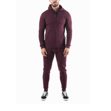 Wholesale blank tracksuits running slim fit <strong>sport</strong> sets workout zipper hoodies jogger tracksuit