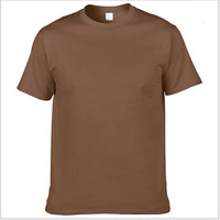 OEM Shirt 100% Bamboo Multi-color Men's Plain Round Neck Bamboo Wholesale Blank T Shirt