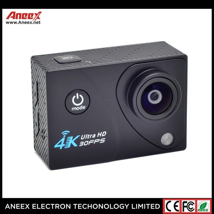 Fashion Style 1080p Full Hd 2.0inch 170 Degree Ultra Wide Angle Lens 30M Underwater Wifi Action Camera 4K