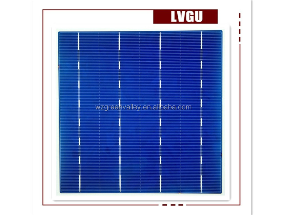 Normal specification home application 156mm polycrystalline solar cell for sale