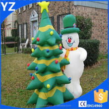 PVC Inflatable Advertising Products Inflatable Christmas Snowman Trees