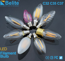 wholesale high quality c32 c35 c37 c7 c9 led filament candle bulbs