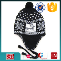 New custom grils Men Skull Cap Ski Knit WINTER Crochet Unisex Star Warm Beanie Hat