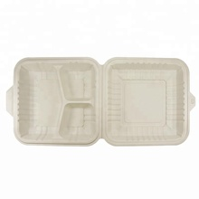 3 Compartment Biodegradable Disposable Microwave Fast Food Container