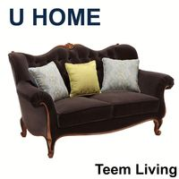 U HOME french style discount sectional sofas/wooden sofa/sofa beds for sale H522