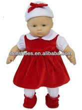 Fashion and lovely baby bornn doll coat baby born doll hat and dress