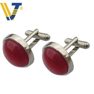 manufacturer metal stainlsee steel shirt cufflinks with needle point