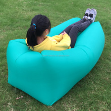 Outdoor Portable laybag Sleeping bag Air Sofa Bed Beach Inflatable Lounge Chair