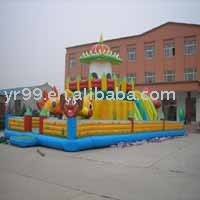 Best-Selling Inflatable Play Structure-Happy family