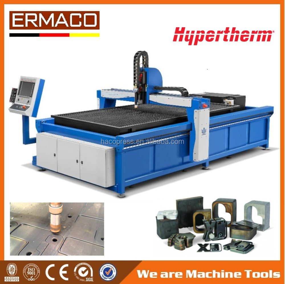 1530 Hot sale gantry cnc steel plate plasma flame cutting machine used for steel door KR-PL