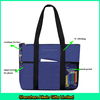 Trendy travel tote bag, zipper top tote sports gym bag