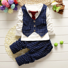 British style kids boys' three pieces clothing set kids suits