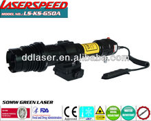 Tactical subzero long distance 50mw green laser designator/emergency use device