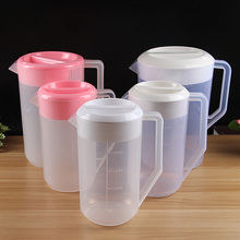 plastic water pitcher with lid, juice jug with measuring scale