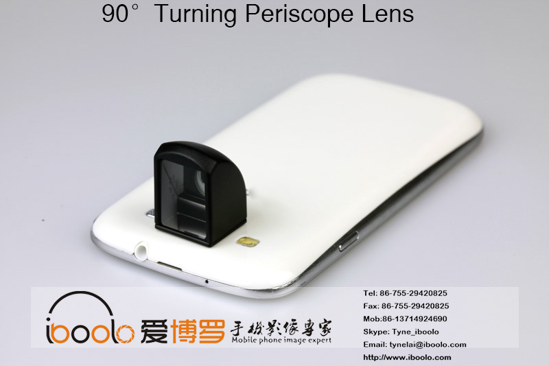 Phone accessories 90 degree spy periscope lens photo lenses for mobile phone camera