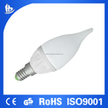 C37 Wholesale 450lm 5W Ceramic LED Candle bulb with 2 Year Warranty