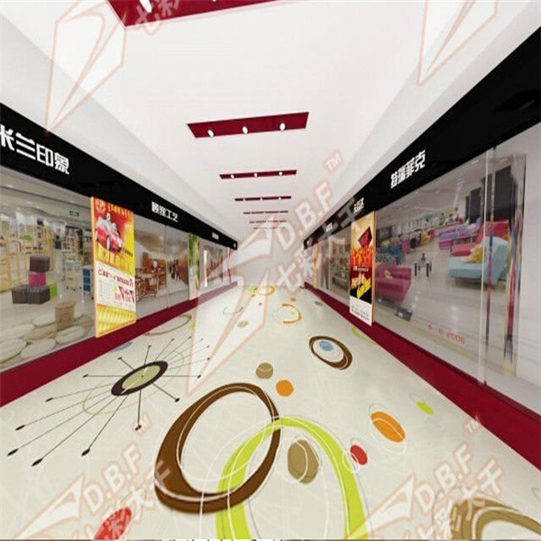 Shopping mall customized PVC commercial flooring