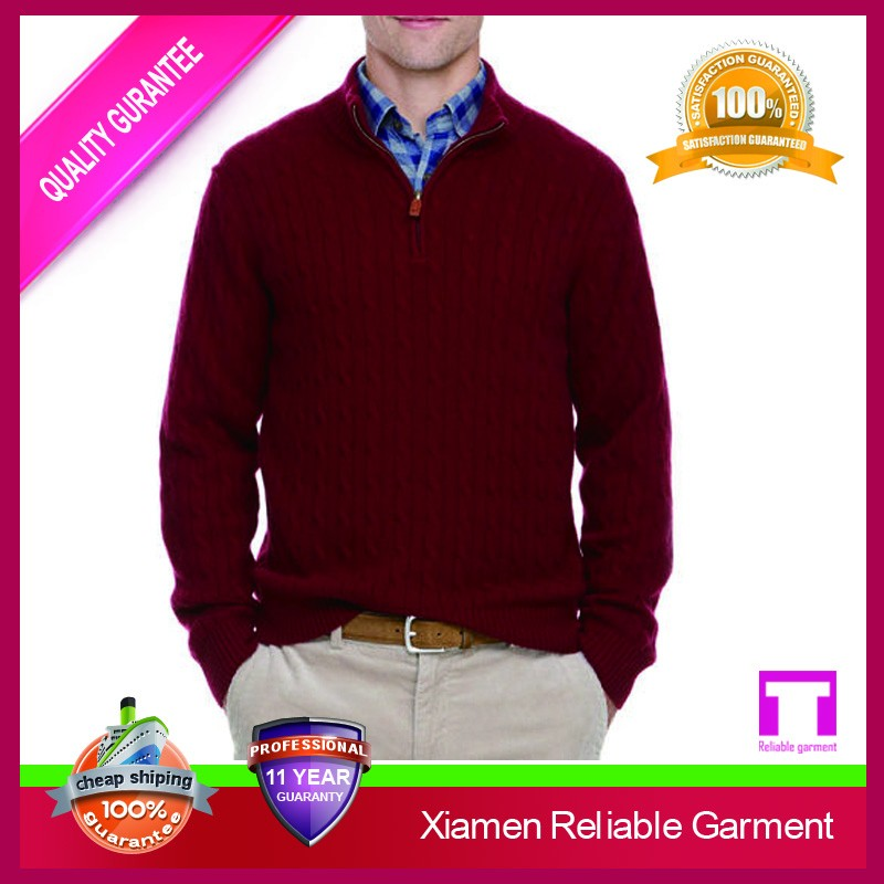 100% cashmere mens latest sweater design/ cashmere men's sweater