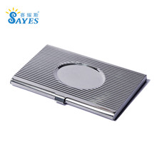 custom engraved durable stainless steel pocket metal business card case holder