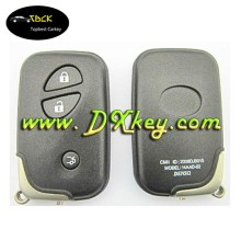 No logo for 3 button lexus key shell with emergency key