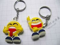 2d custom shaped cheap fashion soft pvc rubber toy keychain
