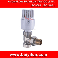 "DN15(1/2"") CE Thermostatic Radiator valve /nickel plating angle valve with high quality model"
