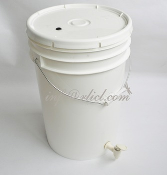 25L Plastic Fermenter Buckets With Tap and grammoted Lid, Brew Kettle Pot, Beer Fermentation