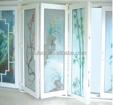 PVC bi-folding Door at good price for hot sale now, colorful folding pvc door export from large famous window and door factory