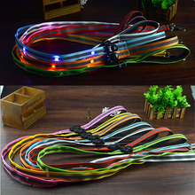 Professional factory supply dog leash led pet dogs and cats accessories led dog leash